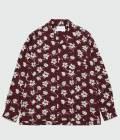 ADAM ET ROPÉ HOMME - アダム エ ロペ オム   市松&フラワープリントオープンカラーシャツ   パープル系