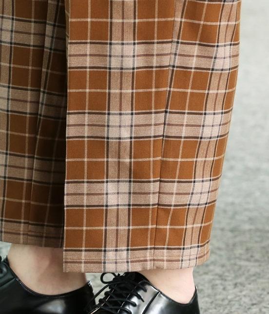 ジュンレッド | 【smart 9月号掲載商品】タータンチェックインボックスワイドパンツ - 5