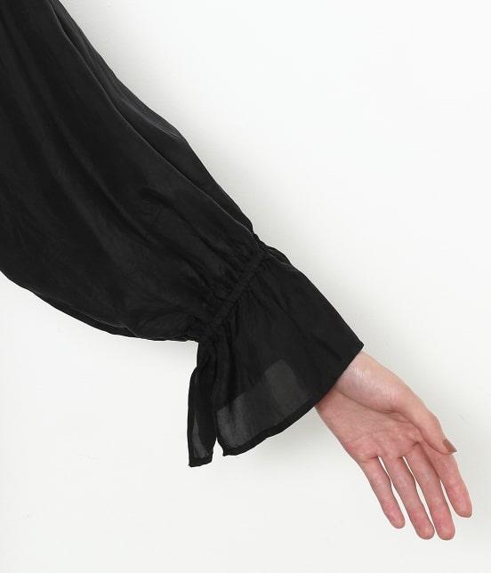 アダム エ ロペ ファム | 【ロペシスターズコレクション 辻直子監修】【ne Quittez pas】 SILK BLACK DRESS - 7