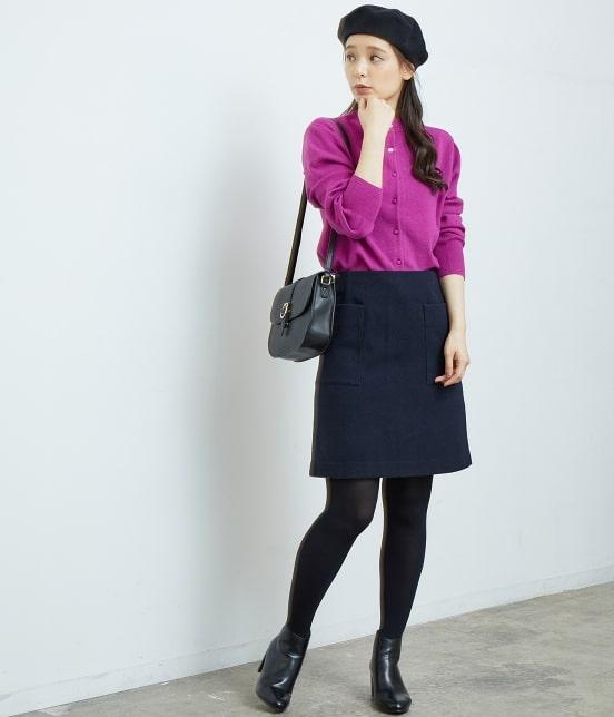 ロペピクニック | プレミアムウールメルトン台形スカート - 10