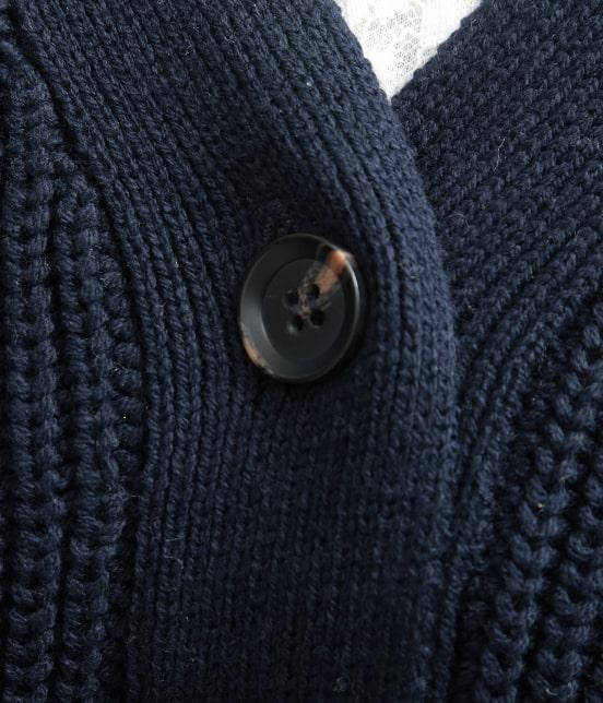 ビス | 畦編みコクーンショートカーディガン - 6