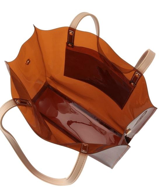 ロペピクニックパサージュ   メタリック巾着付ビニールトートバッグ - 6
