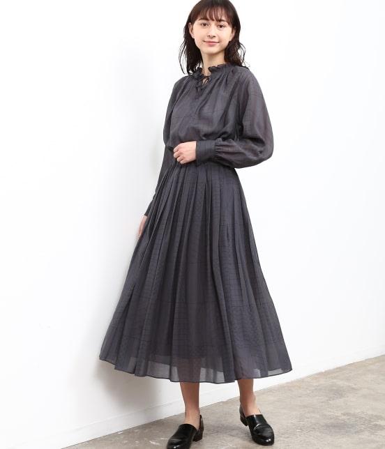 サロン アダム エ ロペ ウィメン   【MAISON DU BON for SALON】CHOCOLATEタックギャザースカート - 14