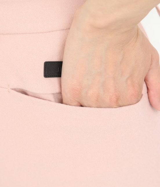 ジュン アンド ロペ   【保温】両面起毛ロゴ入り配色スカート - 5