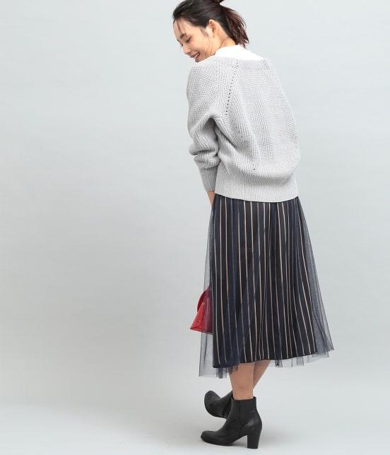 ビス | 畦編みコクーンショートカーディガン - 16