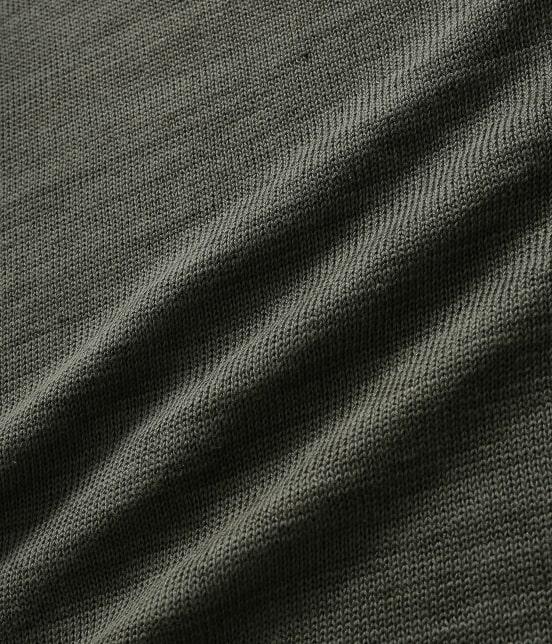 アダム エ ロペ オム   【予約】[山形ニット] 綿麻天竺クルーネックニット - 13