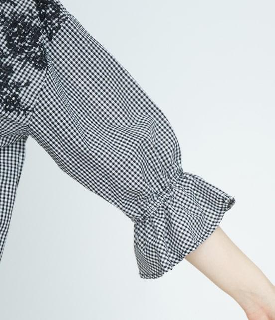 ロペピクニック | 【TIME SALE】スカラップ刺繍ブラウス - 5
