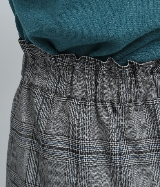 ビス | ヘリンボーンチェックタイトスカート - 3