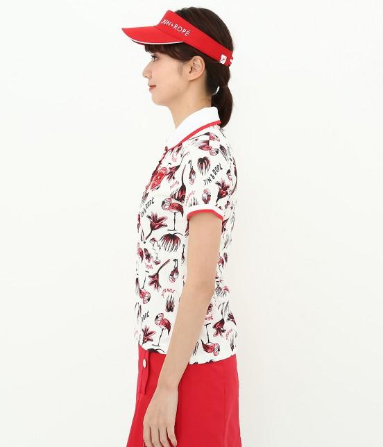 ジュン アンド ロペ | 【TIME SALE】【UV】【遮熱クーリング】フラミンゴ柄プリントポロシャツ - 1
