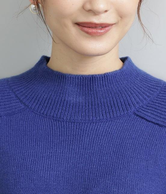 ビス   【WEB先行入荷】バックパール釦ハイネックニットプルオーバー - 4