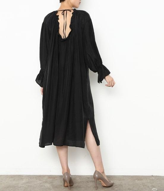 アダム エ ロペ ファム | 【ロペシスターズコレクション 辻直子監修】【ne Quittez pas】 SILK BLACK DRESS - 11