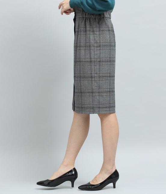 ビス | ヘリンボーンチェックタイトスカート - 1