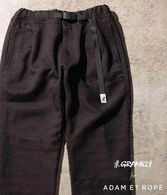 アダム エ ロペ オム   【GRAMICCI 別注】TWEEDY HERRINGBONE CRAZY PANTS - 18