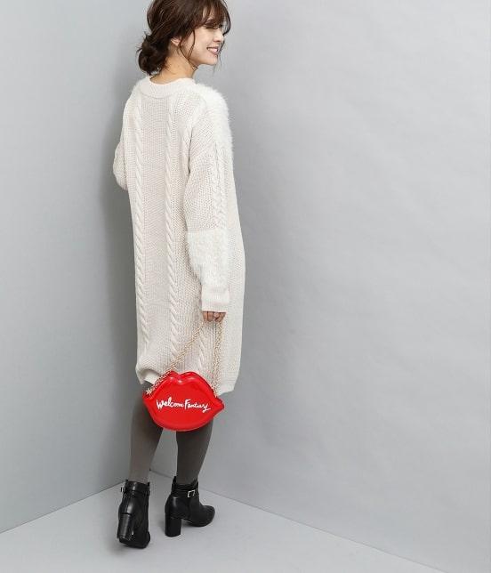 ビス | 【泉里香×ViS】フェザーパネルニットワンピース - 11