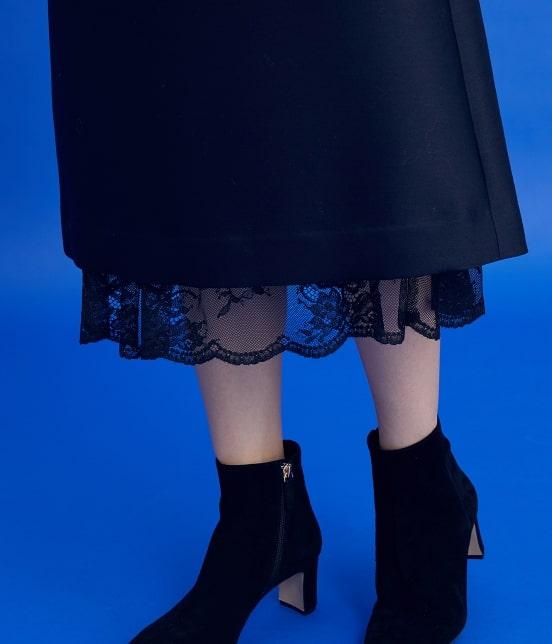 ロペ | 【ロペシスターズコレクション 辻直子監修】トラペーズレース重ねスカート - 8