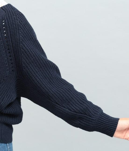 ビス | 畦編みコクーンショートカーディガン - 4