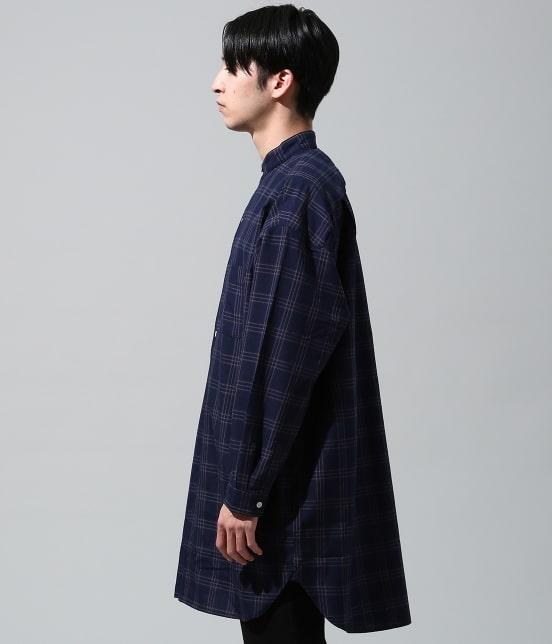 ジュンレッド | 【smart 10月号掲載商品】チェックバンドカラーマキシシャツ - 2