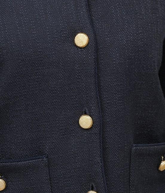 ロペ | 【セットアップ対応】【SS/S/Lサイズあり】スラブツィードノーカラーポケットジャケット - 11