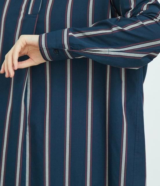 ロペピクニック | 【2WAY】バックオープンシャツワンピース - 5
