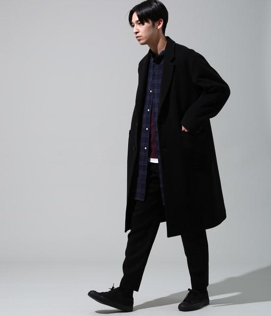 ジュンレッド | 【smart 10月号掲載商品】チェックバンドカラーマキシシャツ - 9