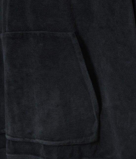 アダム エ ロペ オム   ベロアオーバーダイハーフジップパーカー - 10