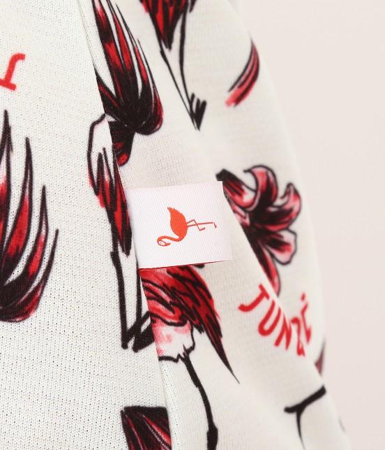 ジュン アンド ロペ | 【TIME SALE】【UV】【遮熱クーリング】フラミンゴ柄プリントポロシャツ - 8