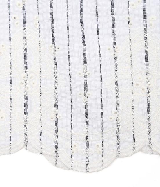 ロペピクニック | 【50TH SPECIAL COLLECTION】【2WAY】裾刺繍オフショルダーブラウス - 7