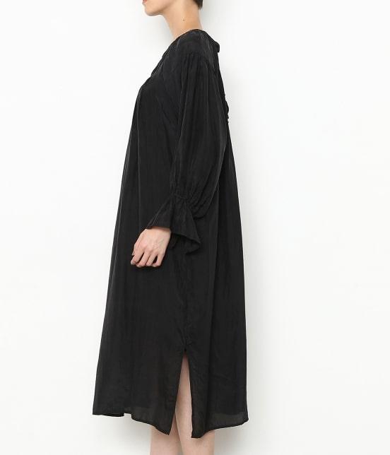 アダム エ ロペ ファム | 【ロペシスターズコレクション 辻直子監修】【ne Quittez pas】 SILK BLACK DRESS - 2