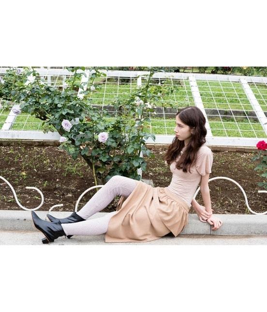 ロペ エターナル | 【TIME SALE】ポリエステル クレープ ジョーゼット ぺプラムスカート - 2