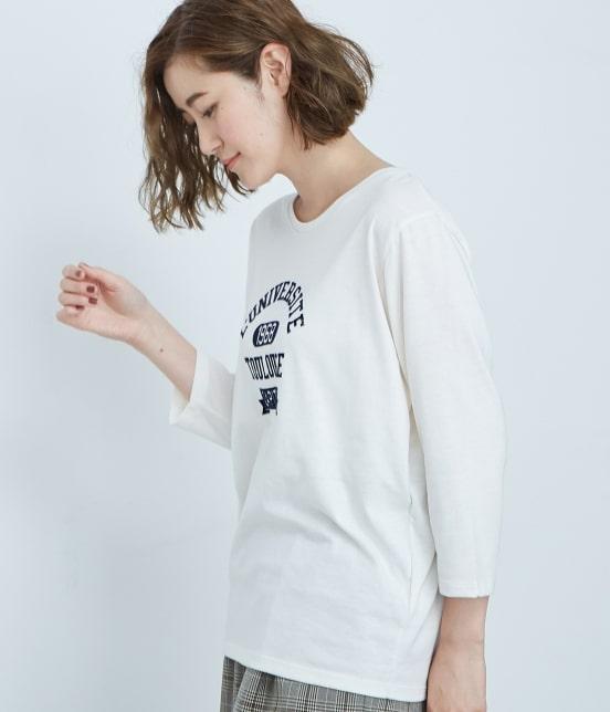 ロペピクニック | フロッキープリントルーズTシャツ - 1