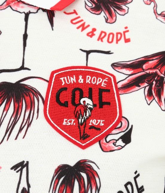 ジュン アンド ロペ | 【TIME SALE】【UV】【遮熱クーリング】フラミンゴ柄プリントポロシャツ - 5