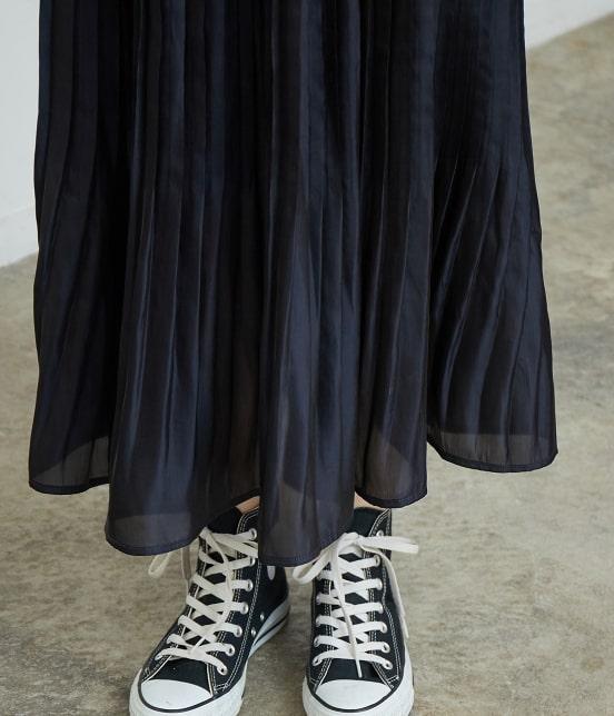 ロペピクニック | 【WEB限定カラー:ネイビー】シャイニープリーツスカート - 5