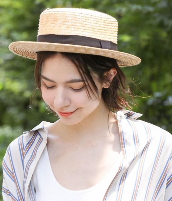 サロン アダム エ ロペ ウィメン   【田中帽子×SALON】カンカン帽 - 1