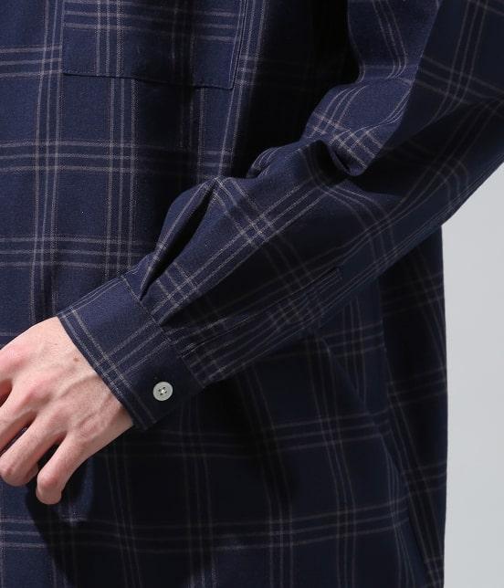 ジュンレッド | 【smart 10月号掲載商品】チェックバンドカラーマキシシャツ - 5