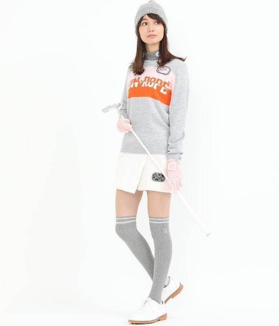 ジュン アンド ロペ | カラーブロックロゴインターシャPO - 12