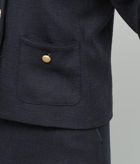 ロペ | 【セットアップ対応】【SS/S/Lサイズあり】スラブツィードノーカラーポケットジャケット - 10