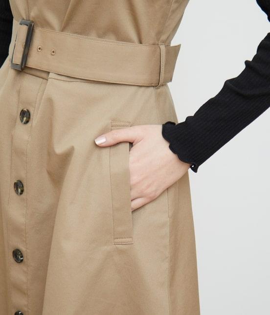 ロペピクニック | トレンチジャンパースカート - 4