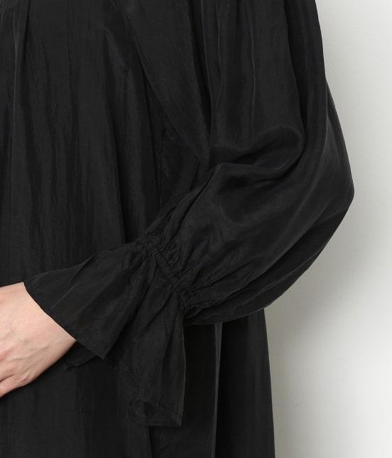 アダム エ ロペ ファム | 【ロペシスターズコレクション 辻直子監修】【ne Quittez pas】 SILK BLACK DRESS - 6