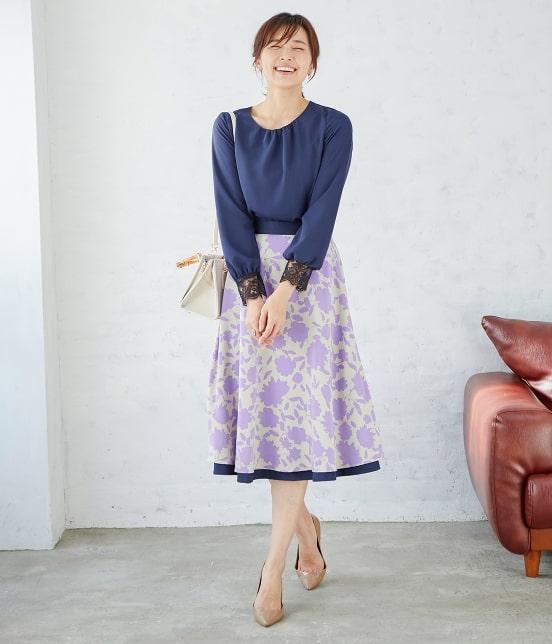 ロペ | 【SS/S/Lサイズあり】【2WAY】フラワープリントスカート - 1