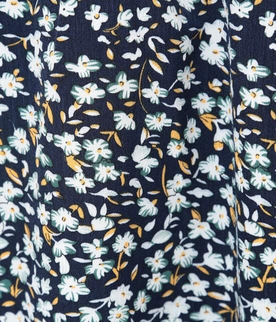 ビス   花柄ハイネックボリューム袖ワンピース - 8