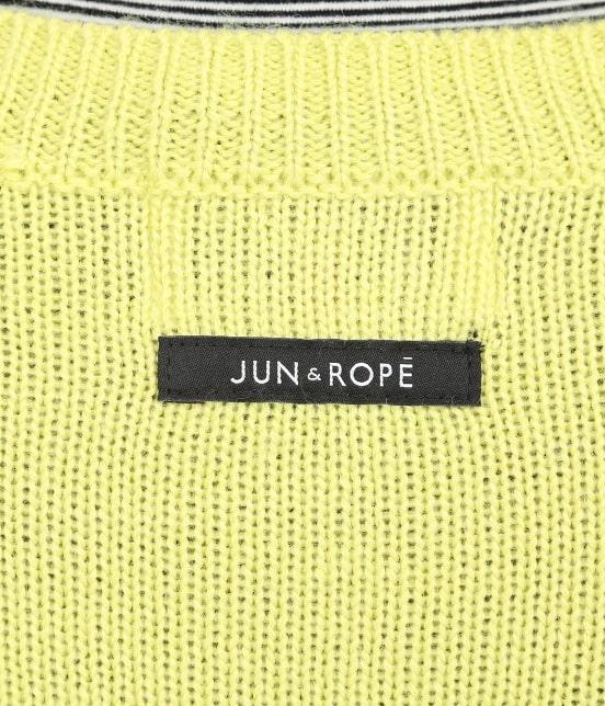 ジュン アンド ロペ | カラーブロックロゴインターシャPO - 3