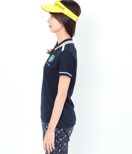 ジュン アンド ロペ   【UVCUT】【吸水速乾】【接触冷感】ミリオンアイス半袖ポロシャツ - 1