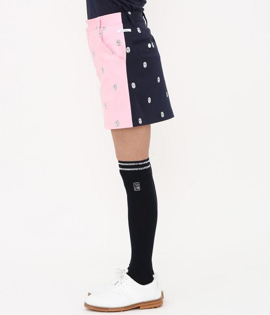 ジュン アンド ロペ | 【TIME SALE】ワッペン柄プリントカラーブロックスカート - 1