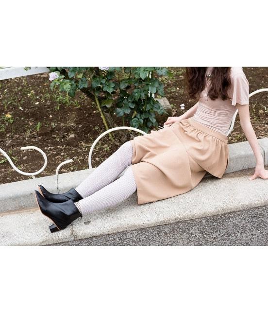 ロペ エターナル | ポリエステル クレープ ジョーゼット ぺプラムスカート - 1