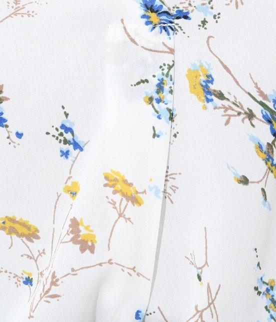 ビス | 花柄スキッパーブラウス - 9