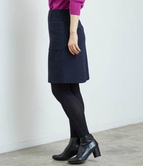 ロペピクニック | プレミアムウールメルトン台形スカート - 1