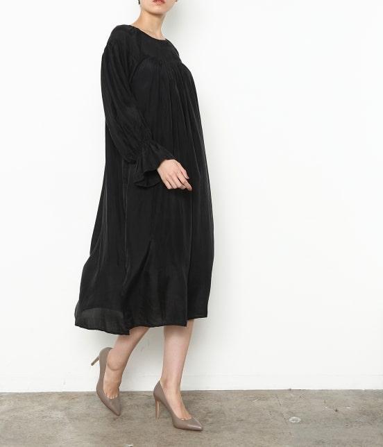 アダム エ ロペ ファム | 【ロペシスターズコレクション 辻直子監修】【ne Quittez pas】 SILK BLACK DRESS - 10