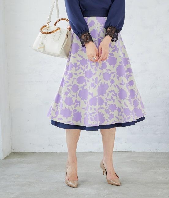 ロペ | 【SS/S/Lサイズあり】【2WAY】フラワープリントスカート - 5