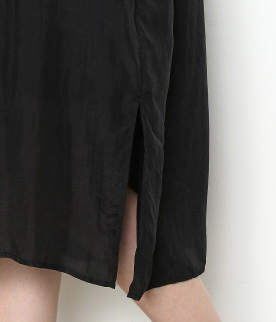 アダム エ ロペ ファム | 【ロペシスターズコレクション 辻直子監修】【ne Quittez pas】 SILK BLACK DRESS - 9