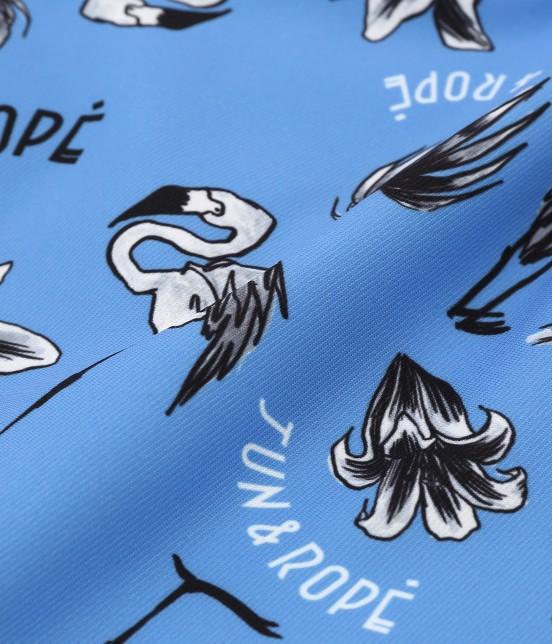 ジュン アンド ロペ   【TIME SALE】フラミンゴ柄プリントショートパンツ - 10